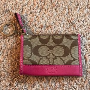 coach mini keychain wallet